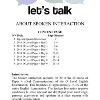 O Level English Spoken Interaction Package