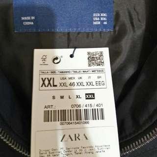 Jaket Zara.  Made In China.