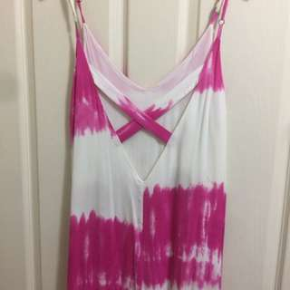 Maxi Pink Tie Dyed Dress