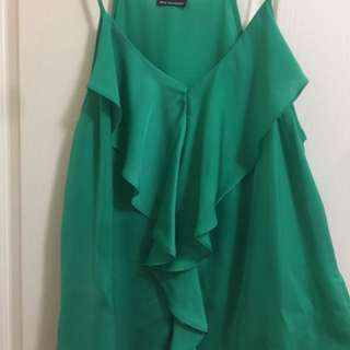 Green Bardot Top