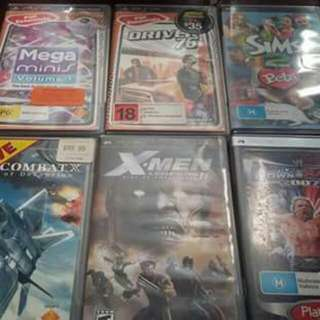 6 Good Condition PSP Games. Unwanted No Use For Them.