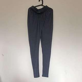 AUGUST STREET WOMENS HAREM WTAP OVER PANTS IN DARK NAVY Size 8