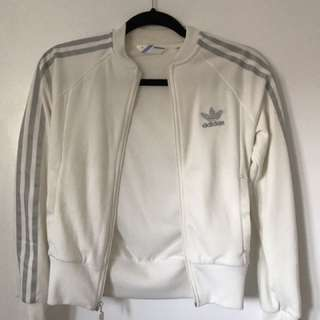 Adidas Track Zip Up (silver & white)