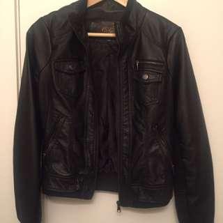 Vegan Leather Jacket Sz S
