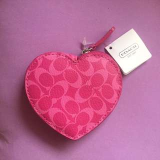 Pink Authentic Coach Change Purse