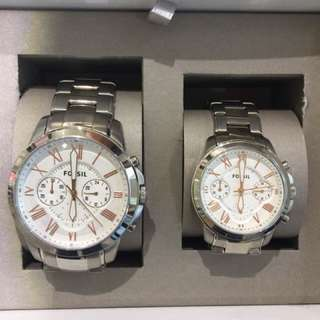 Fossil Couple Watch (silver)