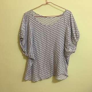 🚚 水玉點點 粉紫上衣 #八月免購物我送你 運費:37元