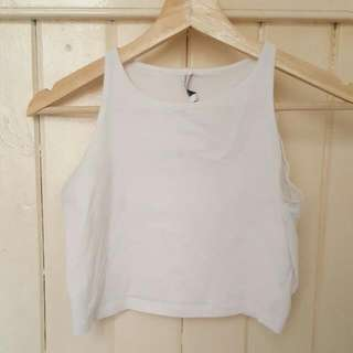 Agent Ninety Nine White Tank Crop Top Size L