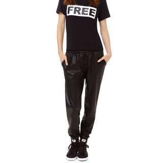 Aritzia Wilfred Free Faux Leather Joggers!