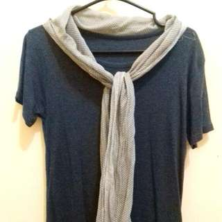 T-shirt With Scarf On