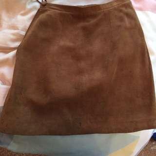 sued skirt