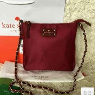 Brandnew Kate Spade Sling Bag Maroon