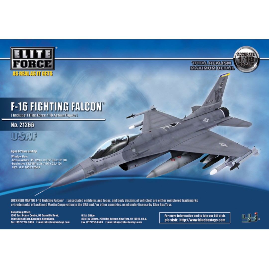 1/18 BBI Elite Force Airplane JSI F-16 Fighting Falcon Wolfpack Jet  Aircraft 1/32 Trumpeter Hobby Master Diecast 1/72 Rc Pilot