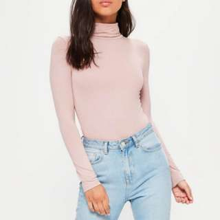Long Sleeve Turtle Neck Bodysuit New