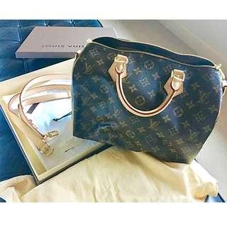 Louis Vuitton Monogram Speedy Bag + Shoulder Strap