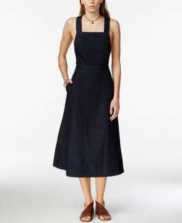 Free People Apron Denim Midi Dress