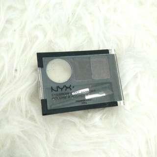 NYX eyebrow cake powder shade black grey preloved