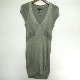 Mango Silver Knit Dress - Preloved
