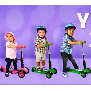 3合1幼童成長滑板車