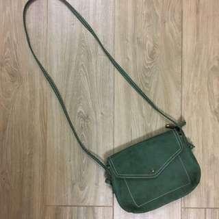 💌包郵 軍綠色斜孭袋