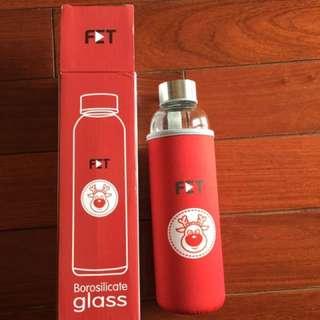 玻璃隨身瓶附保溫保冰套-限量愛喜嗲鹿造型
