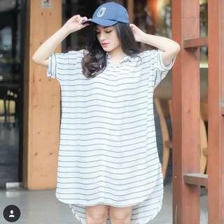 Preloved Cotton Ibk Shirt Dress (Connie)