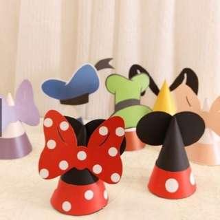 【現貨】生日帽★DIY生日帽 迪士尼卡通派對用品 生日帽子乙枚
