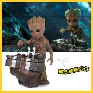星際異攻隊2格魯特銀河護衛隊2 小樹人場景樹人寶寶格魯特Groot 雕像手辦模型擺件辦公室小物28Qig 18QKB