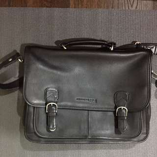 Kenneth Cole men's leather office bag authentic