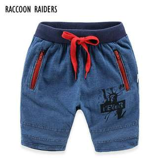 預購 男童牛仔短褲