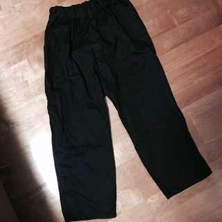 Per.黑色寬褲