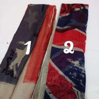 Pashmina Hijab American Flag