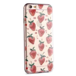 🚚 I Phone 6/6s 手繪草莓軟手機殼