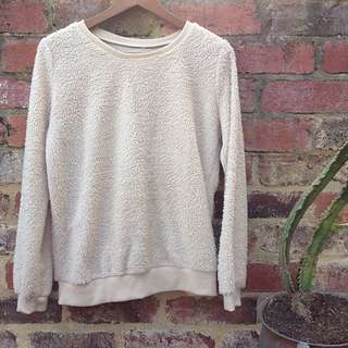 Wooly Fuzzy Cream Jumper