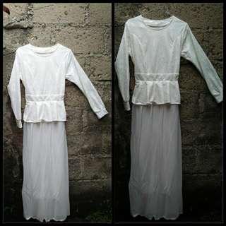 Baju Muslimah Putih