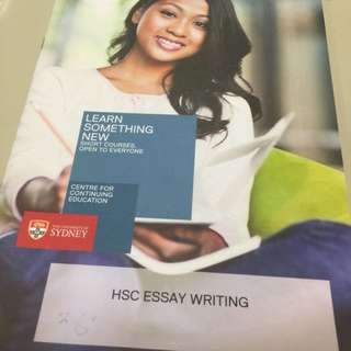 USYD HSC Essay Writing Short Course Book