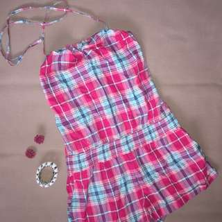Checkered Mini Jumpsuit