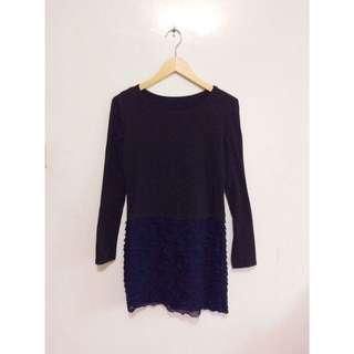 ⏬ Black Long Sleeves Dress
