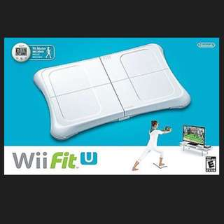 NEW Nintendo Wii Fit U + Fit Meter + Balance Board Fitness Accessories Game