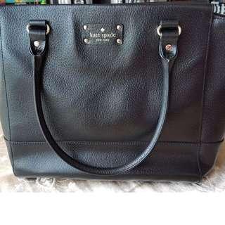 Kate Spade Handbag (Wellesley Camryn) - Black Leather