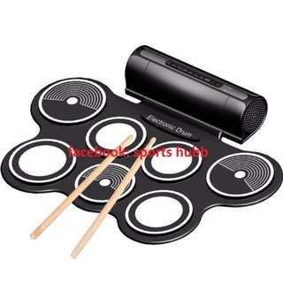 Digital Electronic Foldable Flexible Silicone Sheet 7 Pads with Drum Stick