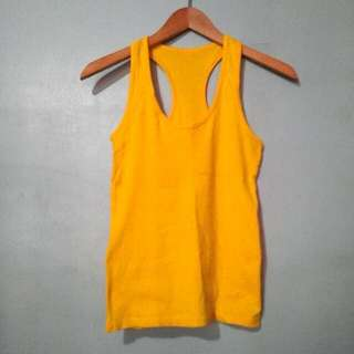 Yellow Racerback Tank Top