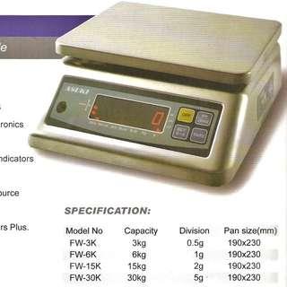 ASUKI Waterproof Digital Weighing Scale