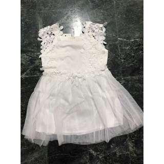 『乖寶寶童裝』韓版童裝 百元童裝 小童 花朵背心洋裝#(米白)平價童裝