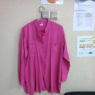 Atasan Kemeja Pink