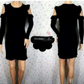 Bershka Black Cut Out Dress