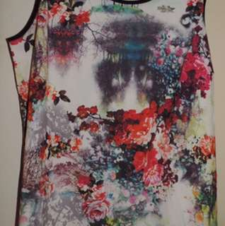 Love Your Wardrobe Tank Top Size 18 Brand New Colourful Floral Design Plus Size