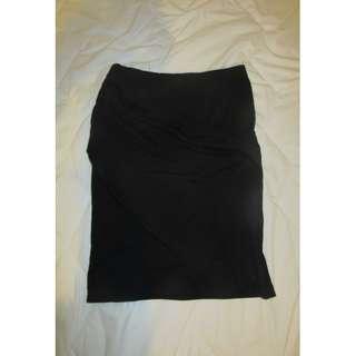 Tight black wrap skirt