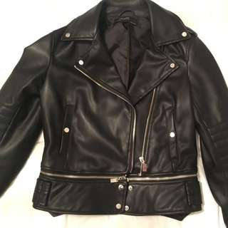 Black Leather Jacket From Zara (basics)