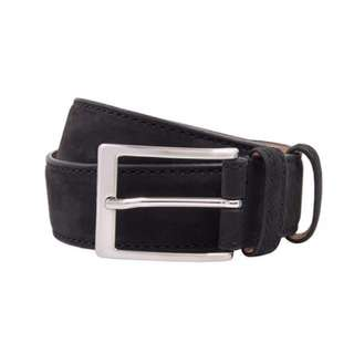 Herringbone Sydney Hallo Black Suede Leather Belt